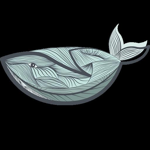 Nineteen logo whale